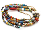 Old Assorted African Trade Beads  - 2 Strands (AT7250)