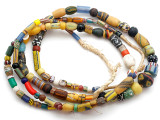 Old Assorted African Trade Beads  - 2 Strands (AT7251)