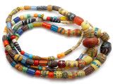 Old Assorted African Trade Beads  - 2 Strands (AT7252)