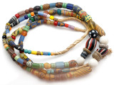 Old Assorted African Trade Beads  - 2 Strands (AT7253)