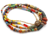 Old Assorted African Trade Beads  - 2 Strands (AT7254)
