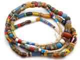 Old Assorted African Trade Beads  - 2 Strands (AT7255)
