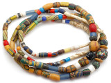 Old Assorted African Trade Beads  - 2 Strands (AT7256)
