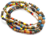 Old Assorted African Trade Beads  - 2 Strands (AT7257)