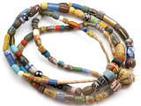 Old Assorted African Trade Beads  - 2 Strands (AT7258)