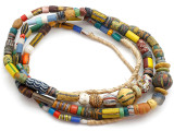 Old Assorted African Trade Beads  - 2 Strands (AT7259)