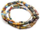 Old Assorted African Trade Beads  - 2 Strands (AT7261)
