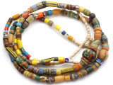 Old Assorted African Trade Beads  - 2 Strands (AT7262)