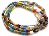 Old Assorted African Trade Beads  - 2 Strands (AT7263)