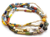 Old Assorted African Trade Beads  - 2 Strands (AT7264)