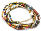 Old Assorted African Trade Beads  - 2 Strands (AT7265)