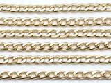 "Gold Plated Aluminum Curb Chain 10mm - 36""  (CHAIN120)"