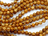 Tan & Yellow Tibetan Agate Round Gemstone Beads 8mm (GS5193)