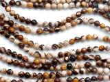 Brown Zebra Jasper Round Gemstone Beads 4-5mm (GS5197)