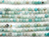 Black Gold Amazonite Round Gemstone Beads 4-5mm (GS5199)