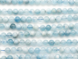Aquamarine Round Gemstone Beads 6mm (GS5209)