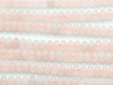 Rose Quartz Rondelle Gemstone Beads 8mm (GS5215)
