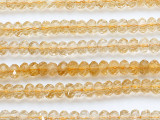 Citrine Faceted Rondelle Gemstone Beads 6mm (GS5231)