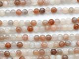 Moonstone Round Gemstone Beads 6mm (GS5232)