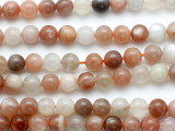 Moonstone Round Gemstone Beads 8mm (GS5235)