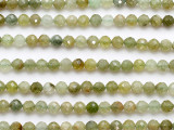 Prehnite Faceted Round Gemstone Beads 6mm (GS5236)