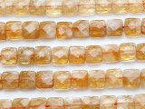 Citrine Faceted Square Gemstone Beads 10mm (GS5238)