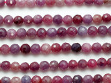 Ruby Faceted Round Gemstone Beads 6mm (GS5239)