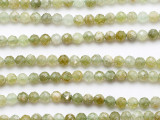 Prehnite Faceted Round Gemstone Beads 4-5mm (GS5240)