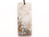 Fossil Coral Agate Gemstone Pendant 61mm (GSP3307)