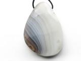 Botswana Agate Gemstone Pendant 40mm (GSP3522)