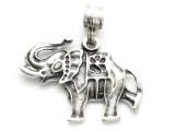 Elephant Metal Pendant 30mm (AP2275)