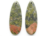 Unakite Gemstone Earring Pair 42mm (GSP3538)