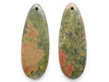 Unakite Gemstone Earring Pair 42mm (GSP3539)