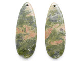 Unakite Gemstone Earring Pair 42mm (GSP3560)