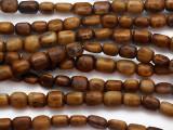 Brown Cylinder Bone Beads 10-12mm - Kenya (BA7036)