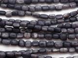 Indigo Blue Cylinder Bone Beads 7-12mm - Kenya (BA7038)