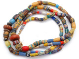 Old Assorted African Trade Beads  - 2 Strands (AT7292)