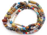 Old Assorted African Trade Beads  - 2 Strands (AT7293)