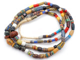 Old Assorted African Trade Beads  - 2 Strands (AT7294)