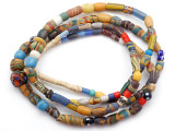 Old Assorted African Trade Beads  - 2 Strands (AT7296)