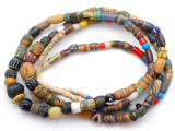 Old Assorted African Trade Beads  - 2 Strands (AT7297)