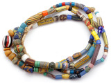 Old Assorted African Trade Beads  - 2 Strands (AT7300)