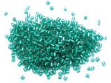 Metallic Teal Bugle Glass Seed Beads - 2mm (SB280)