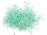 Clear Turquoise Line Glass Seed Beads - 3mm (SB296)