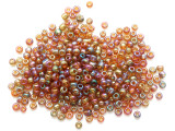 Amber Jeweltone Glass Seed Beads - 3mm (SB298)