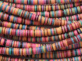 Multi-Color Vinyl Disc Beads 6mm (VY264)