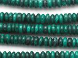 Malachite Rondelle Gemstone Beads 8mm (GS5245)