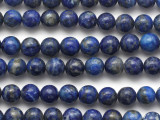 Lapis Lazuli Round Gemstone Beads 8mm (GS5253)