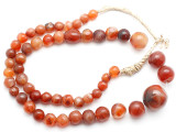 Carnelian Graduated Round Beads 8-22mm - Mali (AT7317)