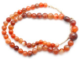 Carnelian Graduated Round Beads 7-16mm - Mali (AT7320)